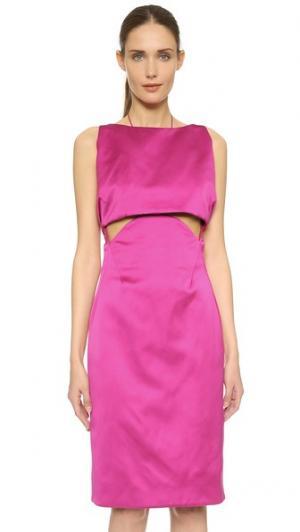 Платье без рукавов Zac Posen. Цвет: малиновый