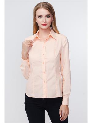 Рубашка VICTORIA VEISBRUT. Цвет: персиковый