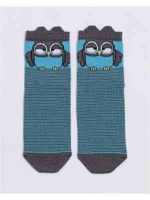 Носки Mark Formelle. Цвет: лазурный,серый
