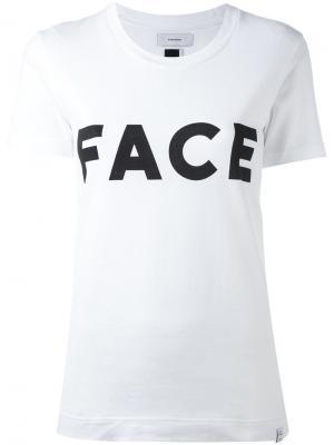 Футболка Face Facetasm. Цвет: белый