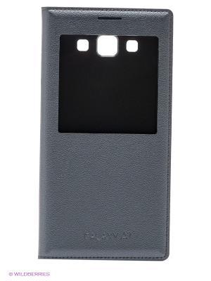 Чехол S View Cover для Galaxy A7 Samsung. Цвет: черный