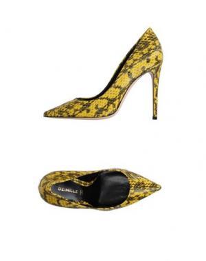 Туфли DEIMILLE. Цвет: желтый