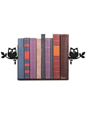 Декоративная подставка-ограничитель для книг Совушки Magic Home. Цвет: черный