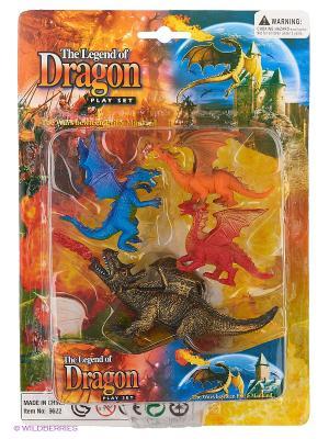 Набор фигурок Драконы Happy Kin. Цвет: золотистый, светло-коричневый, темно-красный