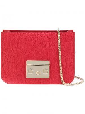 Мини-сумка на цепочке Furla. Цвет: красный