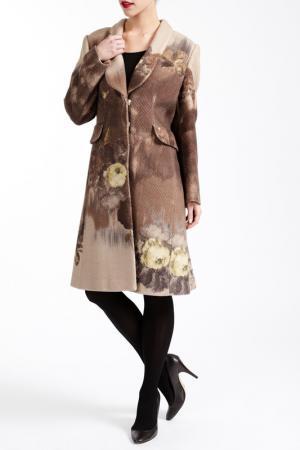 Пальто PAOLA COLLECTION. Цвет: коричневый
