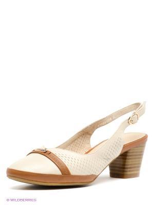 Туфли Covani. Цвет: молочный, коричневый