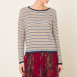 Пуловер ажурный в полоску MAISON SCOTCH. Цвет: разноцветный