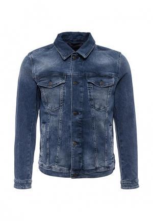 Куртка джинсовая Boss Orange. Цвет: синий