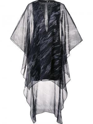 Платье асимметричного кроя Halston Heritage. Цвет: чёрный