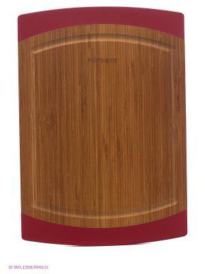 Доска бамбуковая Frybest. Цвет: коричневый, красный