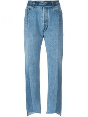 Лоскутные джинсы Vetements. Цвет: синий