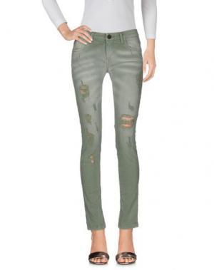 Джинсовые брюки MNML COUTURE. Цвет: зеленый-милитари