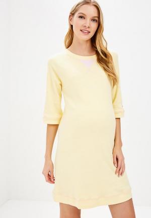Платье Hunny mammy. Цвет: желтый