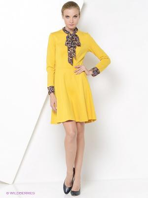 Платье RUXARA. Цвет: горчичный