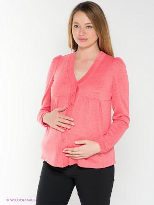 Джемпер для беременных 40 недель. Цвет: коралловый