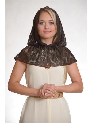 Неспадающий платок Клематис Платков.РФ. Цвет: темно-коричневый