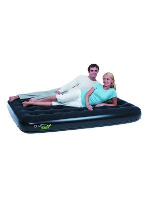 Кровать надувная Comfort Green 2-местная 67380 Bestway. Цвет: черный
