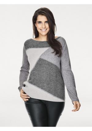 Пуловер PATRIZIA DINI. Цвет: серый/экрю