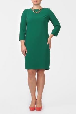 Платье с колье NOVEMBER. Цвет: зеленый