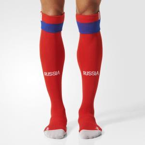 Выездные игровые гетры сборной России  Performance adidas. Цвет: красный