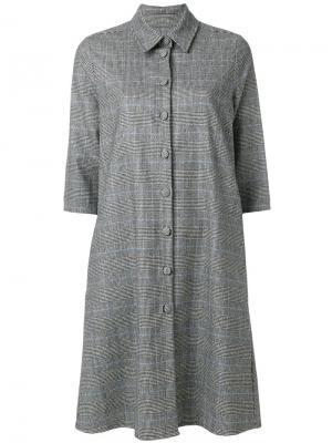 Классическое платье-рубашка Ultràchic. Цвет: серый