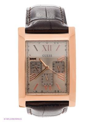 Часы GUESS. Цвет: золотистый, темно-коричневый
