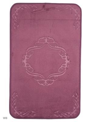 Коврик для ванной Ornament 53х86,тёмно-фиолетовый Jardin. Цвет: фиолетовый