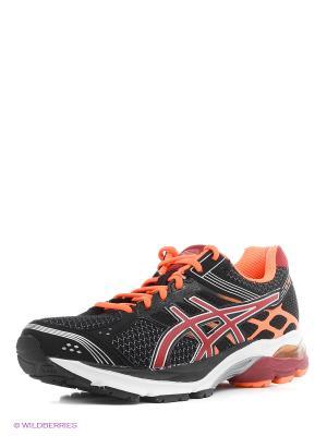Беговые  кроссовки Gel-Pulse 7 ASICS. Цвет: черный, бордовый, оранжевый