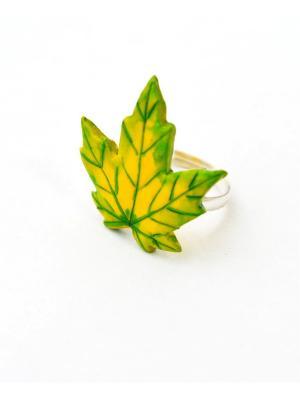Кольцо Green maple НечегоНадеть. Цвет: зеленый, желтый
