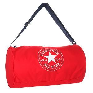 Сумка спортивная  Standard Duffel Poly Red Converse. Цвет: красный