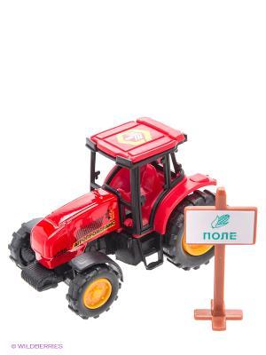 Трактор Технопарк металлический. Цвет: красный