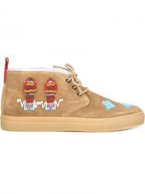 Кеды чукка Due Del Toro Shoes. Цвет: телесный