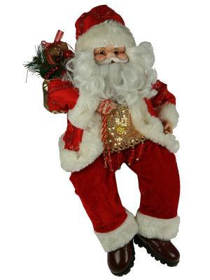 Игрушка новогодняя Санта Клаус цвет красный 41 см (уп.1/6шт.) Русские подарки. Цвет: красный, белый