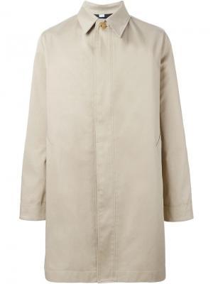 Однобортное пальто Ami Alexandre Mattiussi. Цвет: телесный