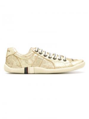Кроссовки с панельным дизайном Osklen. Цвет: металлический