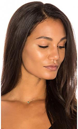 Ожерелье emerald pear Sachi. Цвет: металлический золотой