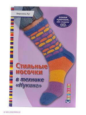 Стильные носочки в технике Нукинг КОНТЭНТ. Цвет: сиреневый
