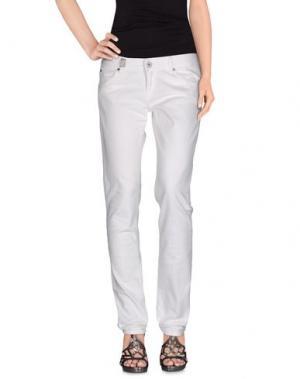Джинсовые брюки 55DSL. Цвет: слоновая кость