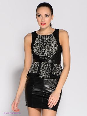 Платье Eunishop. Цвет: черный, серый