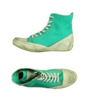 Высокие кеды и кроссовки CANDICE COOPER. Цвет: светло-зеленый