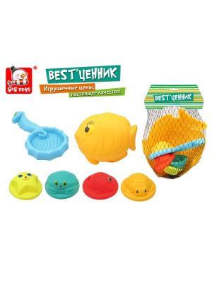Формочка игрушечная S-S. Цвет: желтый, голубой, оранжевый