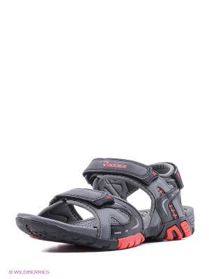 Мужские сандалии Radder. Цвет: красный, черный