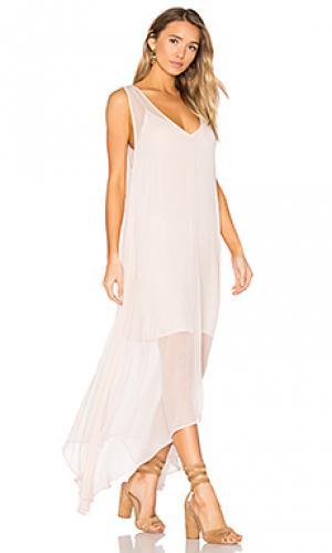 Платье-комбинация firefly LACAUSA. Цвет: розовый