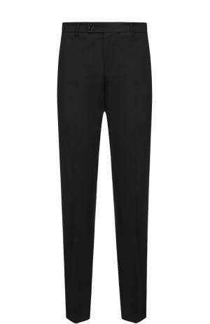 Хлопковые брюки прямого кроя Berwich. Цвет: черный