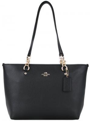 Маленькая сумка-тоут Sophia Coach. Цвет: чёрный