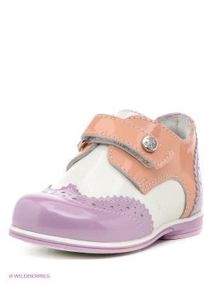 Ботинки ELEGAMI. Цвет: сиреневый, бежевый, белый