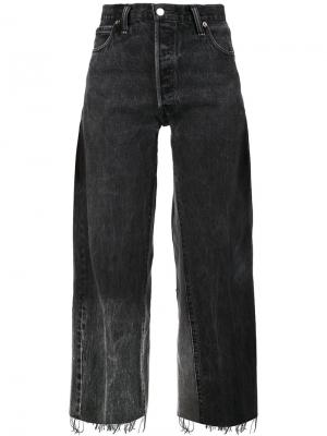 Укороченные джинсы бойфренды Re/Done. Цвет: серый