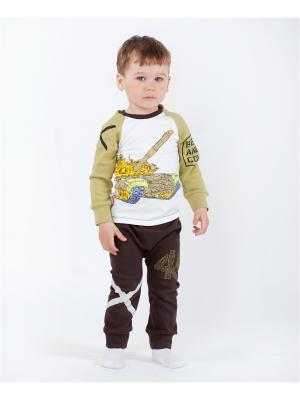 Комплект одежды VATAGA. Цвет: молочный, коричневый, хаки
