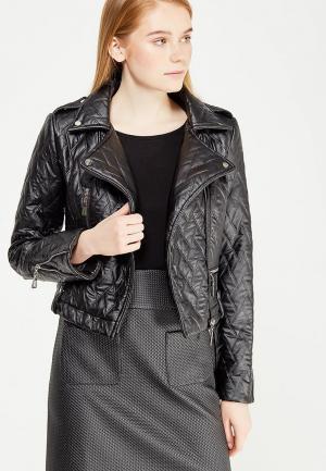 Куртка кожаная Demurya Collection. Цвет: черный